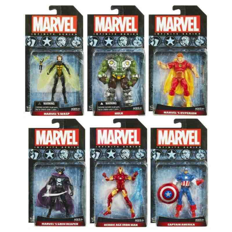 Avengers Infinite Action Figures Wave 1 set of 6 (Inc Wasp Hyperion) - In Stock