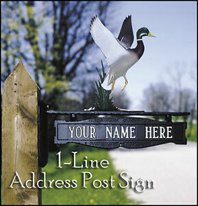 Whitehall Post Sign Decorative 1 Line Address Personalized