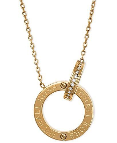 Michael kors mkj4678710 crystal gold 2 ring pendant necklace michael kors mkj4678710 crystal gold 2 ring pendant necklace mkj4678 ebay mozeypictures Image collections