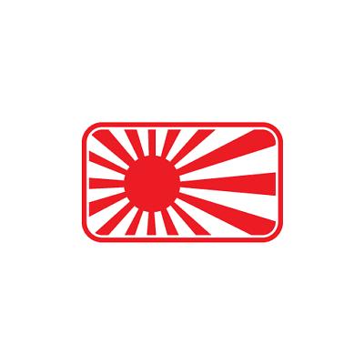 JDM Rising Sun Flag Drift Decal Sticker For Japanese Car ...