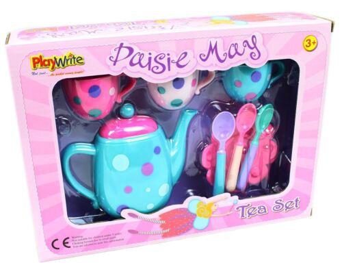 DAISIE MAY SPOTTY TEA SET 604-308 PRETEND PLAY IMAGINE BREAKFAST COFFEE POT