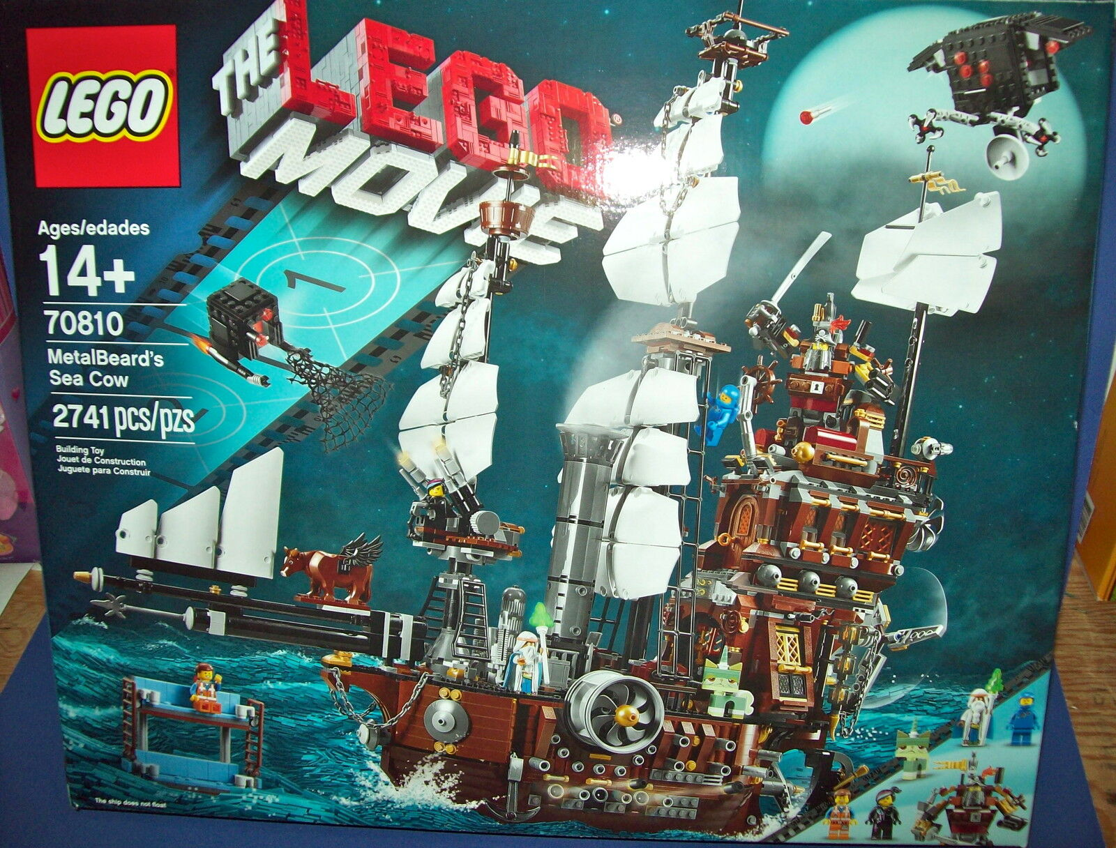 LEGO 70810 The Lego Movie Metalbeard's Sea Cow Ship Boat HTF - Retired