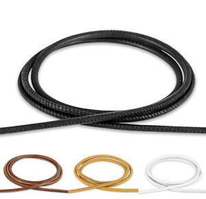 Weiches-Nappa-Lederband-Lederschnur-2-3-4-5-mm-Nappaleder-genaht-gesaumt