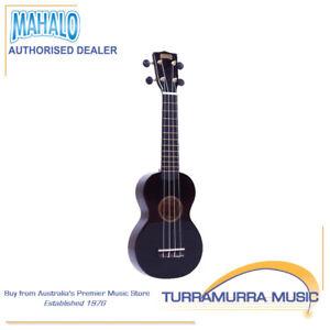 Mahalo-MR1-Rainbow-Series-Soprano-Ukulele-with-Carry-Bag-Black-MR1BK