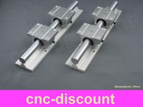 CNC Set 16x 500mm 2x Linearführung 4x Linearwagen Linear Guide Rail 3D Fräse ros