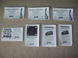 lot of 7 vintage 1930's coupon Genest's Bread Manchester NH Banjo  ukelele