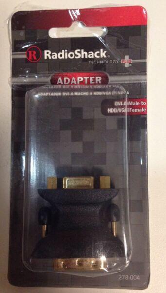 Radioshack Dvi-a Male To Hdd/vga) Female Adapter(278-004)