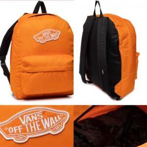 Vans Off The Wall Realm Backpack Orange - Rucksack work school bag VN0A3UI6PUB1