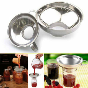 Stainless-Steel-Wide-Mouth-Canning-Jar-Funnel-Cup-Hopper-Filter-Kitchen-Tools-GW