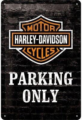 Harley Davidson Parken Nur geprägt metall zeichen na 3020 Schnell sendung Von UK
