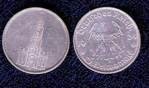 GERMANIA-5-REICHMARK-1934-MARK-Ag900-1000-13-88gr-3-REICH-KM-83-BB