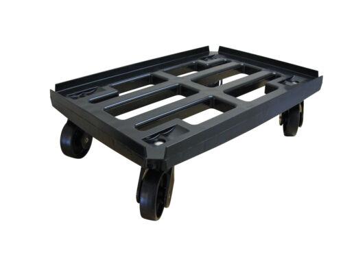 100mm 4xLR PP schw WTR2 schw 4er Pack Transportroller 600x400 Kistenroller