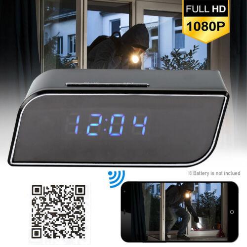 1080P Wireless LED WiFi Wecker digital Uhr Spy Kamera IR-Bewegungserkennung