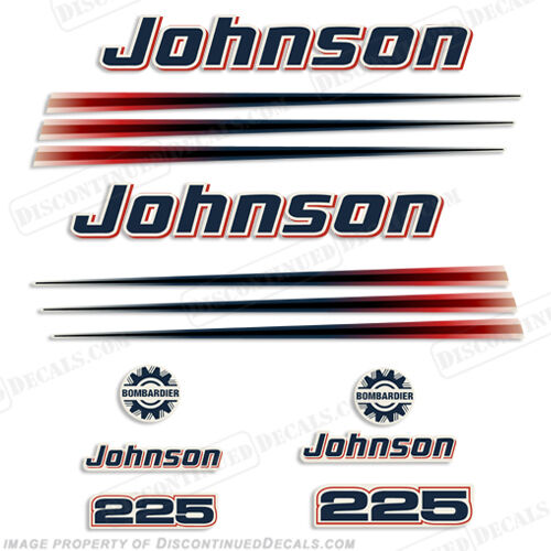Decal Reproductions in Stock Johnson 2002-2006 225hp Decal Kit