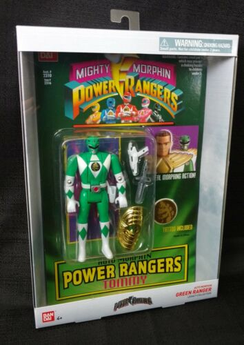 Bandai Power Rangers Legacy Mighty Morphin Green Ranger Tommy Action Figure New!