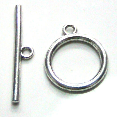 8 Sets Silver Plated Toggle Clasps 14mm Jewellery Findings