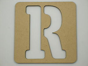 Image Is Loading 15cm Large Wooden Letter Words Stencil Letters Alphabet