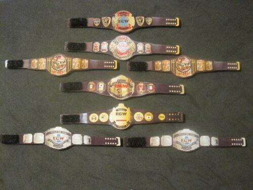 Action figure not included 8 ECW Custom Wrestling Figure Belts WWE WWF NXT WCW