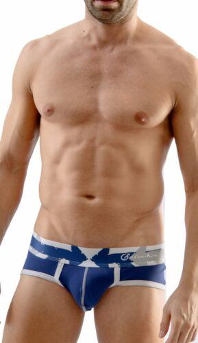 Geronimo Mens Underwear Stylish Brief Black or Blue Hipster Cotton Slip 1665s1