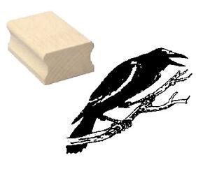 Motivstempel-KRAHE-Motiv-Stempel-Scrapbooking-Halloween-Vogel-Hexe-Herbst