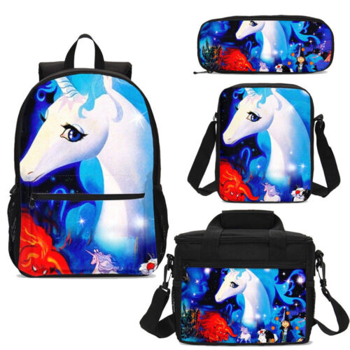 The Last Unicorn Teens Backpack Insulated Lunch Bag Pencil Case Shoulder Bag Lot