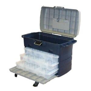 Leeda-Large-Saltwater-amp-Freshwater-Tackle-Box-System-3-Lure-Cases-Fishing-Box