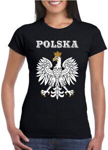 POLSKA ORZEL SERCE Damska Koszulka Patriotyczna Polski Orzel Polish Patriotic