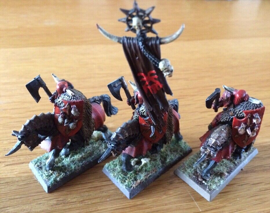 Warhammer Age Of Sigmar Metal Miniatures Knights Of Chaos PRO Painted Lot Of 3