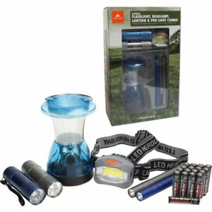 Ozark Trail 6 Piece Flashlight Headlamp Lantern Pen Light