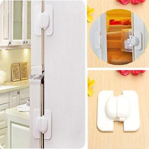 baby proof child toddler pet safe fridge refrigerator freezer door cupboard lock. Black Bedroom Furniture Sets. Home Design Ideas