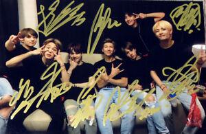 Signed Photo BTS Bangtan Boys Jimin Jin Jhope JungKook SUGA ALL7 Autograph inink