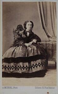 A.Monvel Orleans Francia Foto CDV PL45L1n12 Vintage Albumina c1860