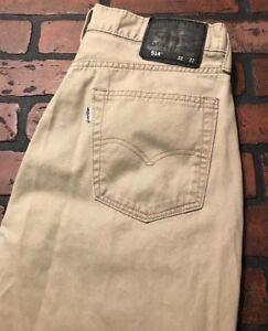 Levi-039-s-514-Men-039-s-Straight-Leg-Tan-Jeans-Pants-Size-32-x-32