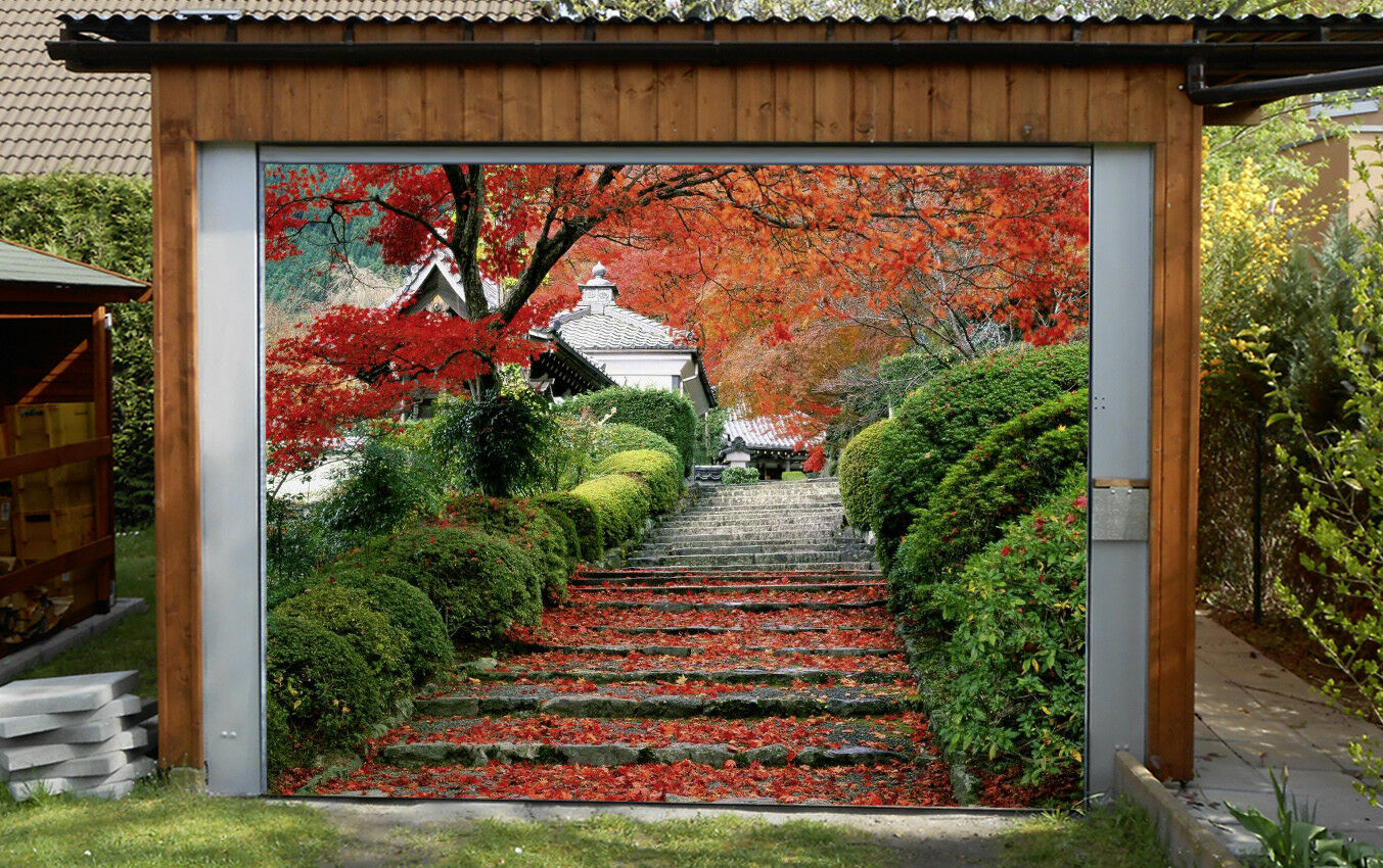 3D Stairs Trees 5 Garage Door Murals Wall Print Decal Wall AJ WALLPAPER AU Lemon