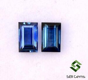Certified-Natural-Blue-Sapphire-Baguette-Cut-Pair-4-50x3-mm-0-67-Cts-Loose-Gems