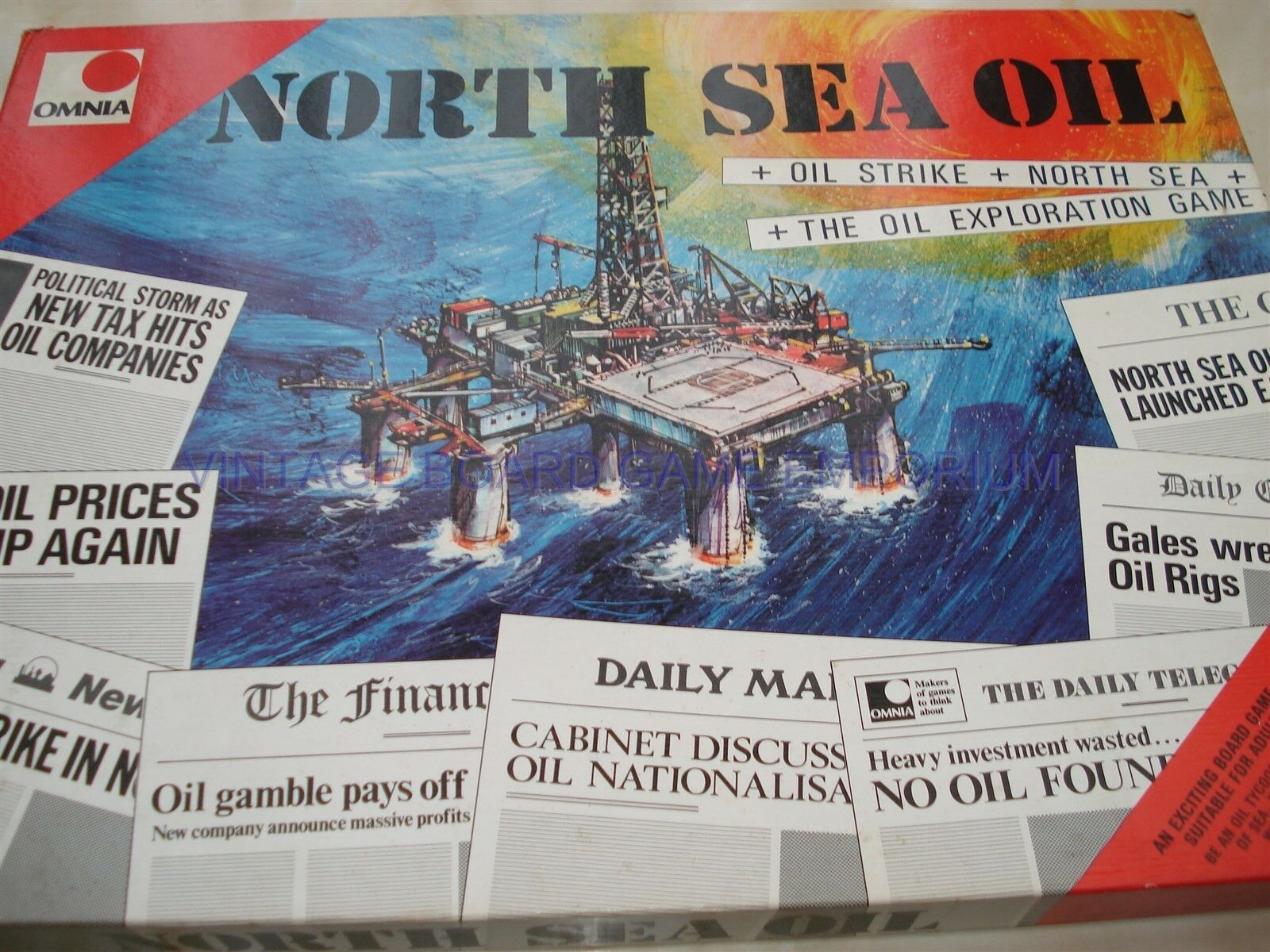 NORTH SEA OIL GAME GAME GAME - OMNIA -  OFFSHORE OIL - STRATEGY GAME - OIL STRIKE GAME 687b0f