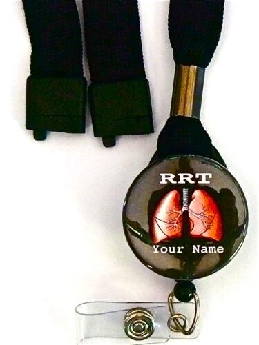 RRT WITH LUNGS LANYARD /& ID BADGE RETRACTABLE REEL BADGE,NURSE TECH NICU, ER