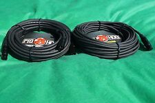 50 Ft Pig-Hog Microphone Mic  XLR 8mm Tour Grade Quality Cable, 2-Pack