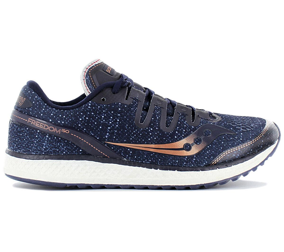 Saucony Libertad Iso Hombre Zapatillas de Correr Azul Marino S20355-30 Running