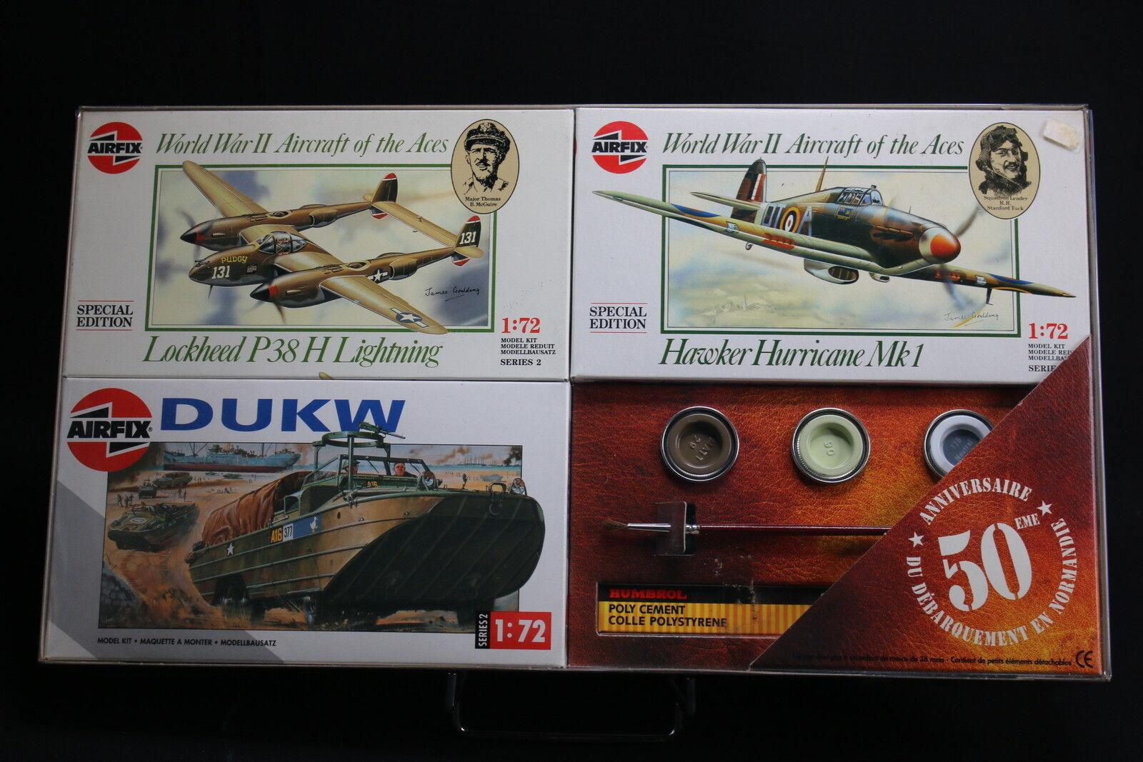 XM009 AIRFIX Collection Day 50 Anniversaire débarquement 02088 02082 02316 WWII