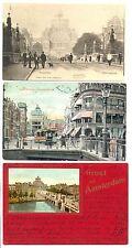 NEDERLAND AK  1903/1909  3 x  AMSTERDAM    PR EX / VW PR EX