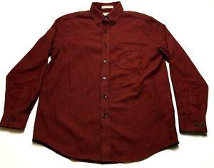 LL-Bean-Mens-Red-Plaid-Front-Pocket-Button-Front-Shirt-Size-Medium