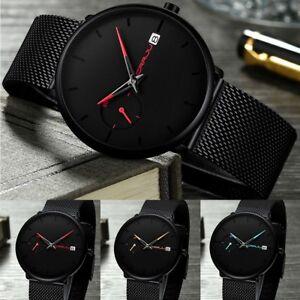 CRRJU-Men-Fashion-Military-Stainless-Steel-Watch-Date-Sport-Quartz-Wrist-Watches