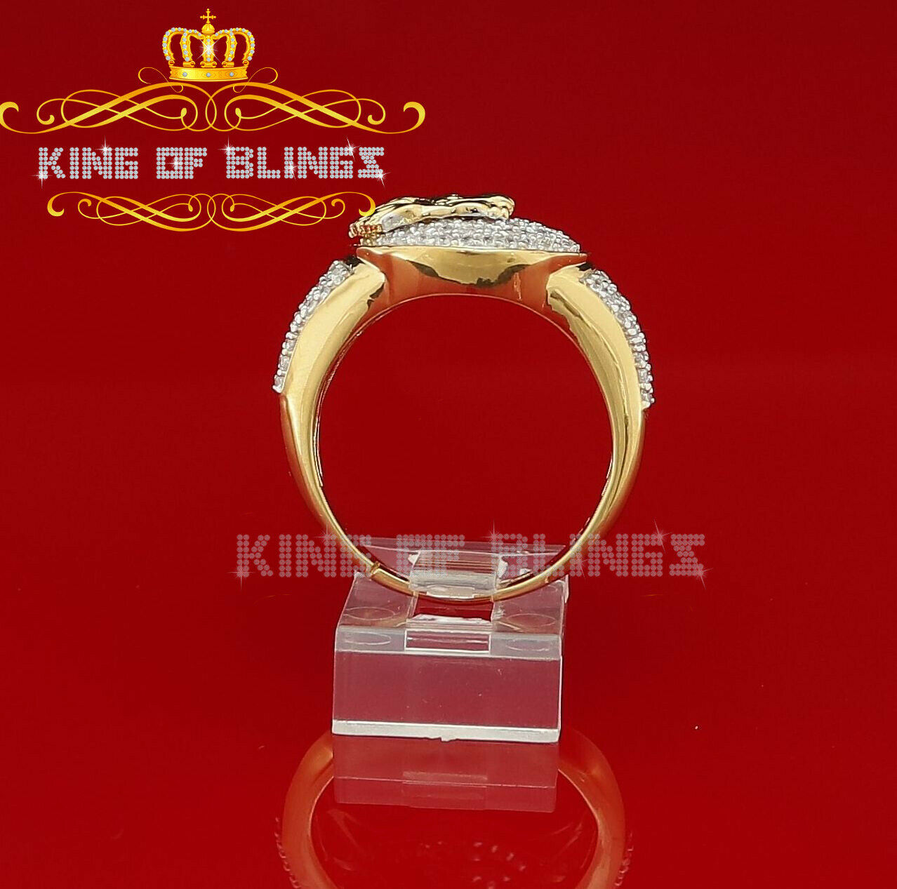 Sterling Silver and 10k Gold Mens Ring Size 11.5 US die Krone