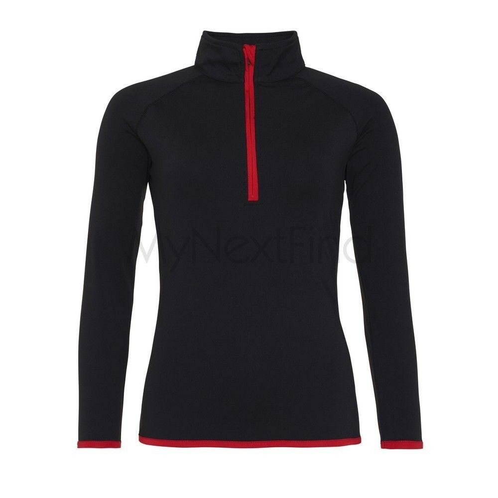 Awdis Just Cool Pour Femme Girlie Sports Gym Cool 1/2 Zip Sweat