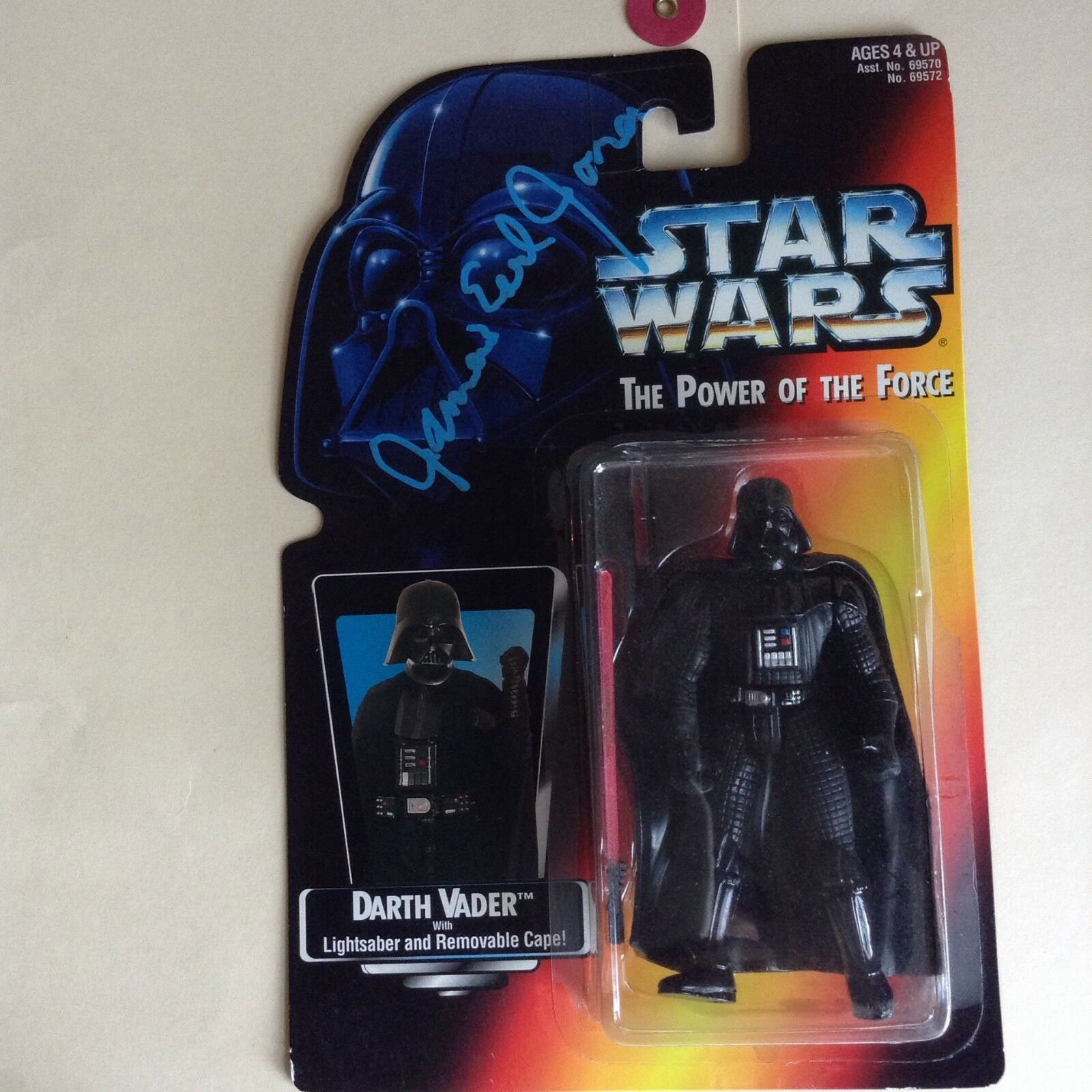 James Earl Jones signed autograph Darth Vader Star Wars Kenner figure RARE, COA