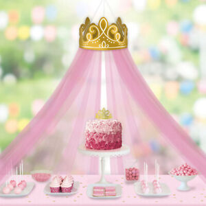 Details About Disney Princess Once Upon A Time Deluxe Crown Decoration W Tulle Canopy Party