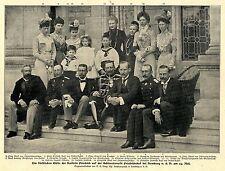 Die fürstlichen Gäste der Kaiserin Friedrich auf der Schloßterasse Friedrichshof