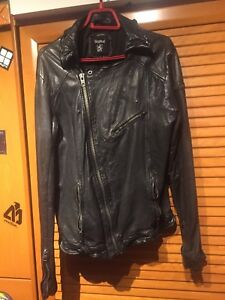 82fb74aec Details about Tigha Biker Leather Jacket size L