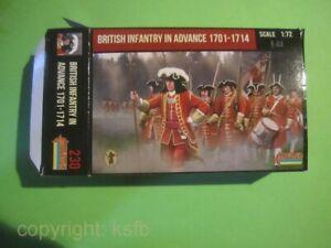1-72-Strelets-230-Erbfolgekrieg-1701-1714-Britische-Infanterie-vorgehend